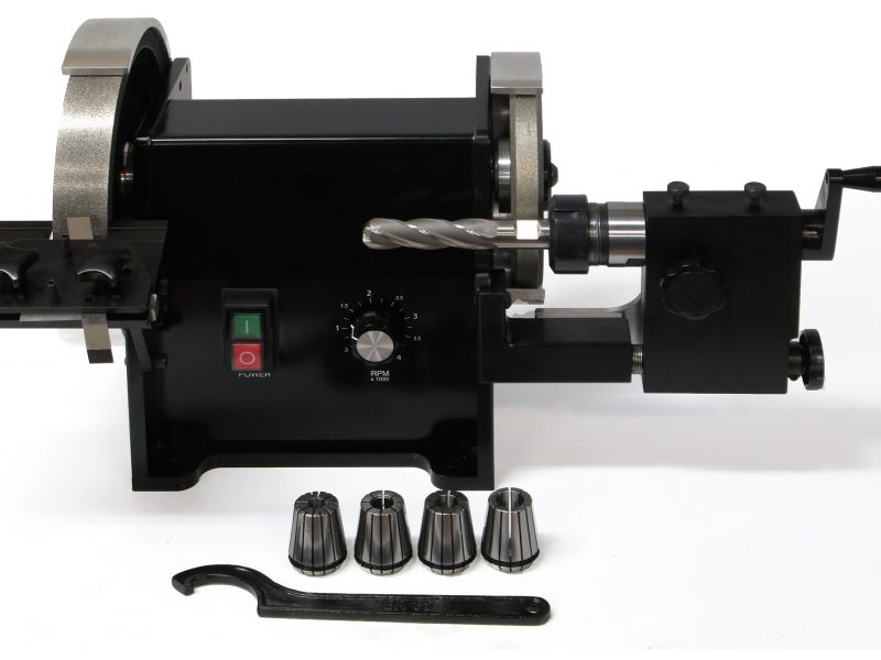 Grind set-screw flats, cut off carbide, chamfer and neck reduction grinds