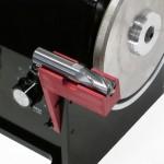 Jig and wheel to grind Weldon flats